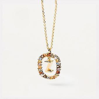 Halsband Kvinnor P D Paola CO01-285-U - Plaqu guld Dor