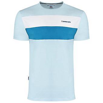 Lambretta Panelled T-Shirt - Cool Blue