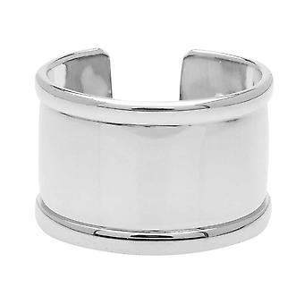 Elegant Elements, Adjustable Ring Base, Channel For Delica Seed Beads 22x14.5mm, 1 Ring, Silver Plt.