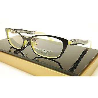 Face A Face Bocca City 1 Col. 9020 Eyeglasses Black Yellow France Made 53-16-142