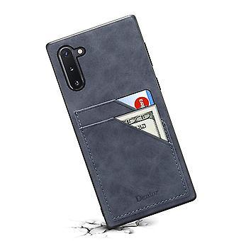 Lommebok skinnveske kortspor for iphone11 5.8 mørkegrå på892