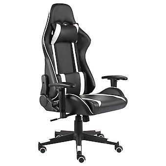 vidaXL Gaming Chair Draaibaar Wit PVC
