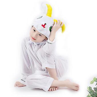 M (120cm) weiße Schafe lange Cosplay Anzug Kostüm Bühne Kleidung Urlaub Kleidung cai630