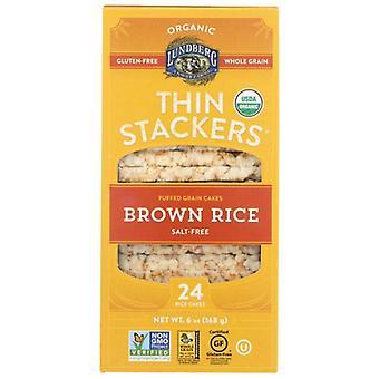 Lundberg Thin Stackr Brown Rice, Case of 6 X 5.9 Oz
