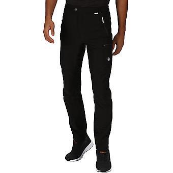 Regatta Mens Highton Multi Pocket Water Resistant Full Walking Trousers - Black