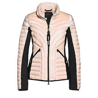 Creenstone Peach Sorbet Summer Down Lightweight Jacket With Scuba Detail