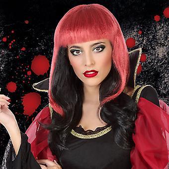 Halloween peruukki punainen musta 117027