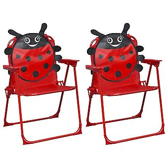 vidaXL children's garden chairs 2 pcs. red fabric