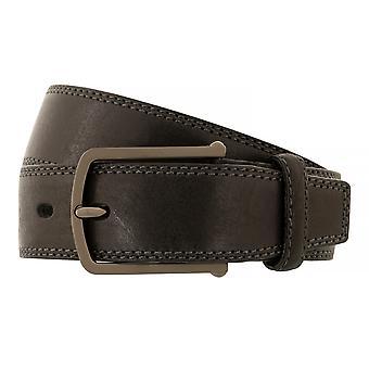 Bugatti belts men's belts leather belt cowhide black 5218