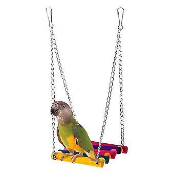 Perruche colorée de balancement de oscillation de bois budgie pour perroquet