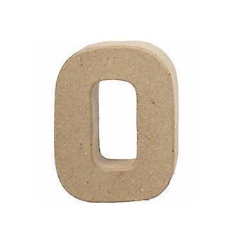 VIIMEISET MUUTAMAT - Pieni 100mm paperi mache kirje O | Papier Mache -muodot