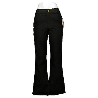 IMAN Global Chic Vaqueros de Mujer Pull On Bootcut Negro 734928001