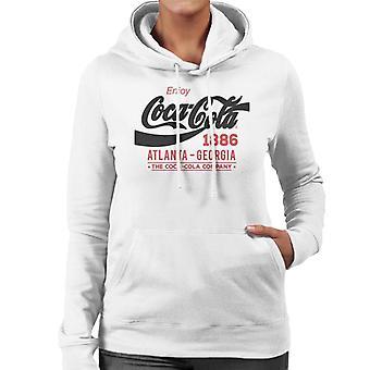 Coca Cola Black Classic Logo Sweatshirt à capuche pour femmes