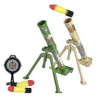 Mörser Modell Raketenwerfer Katapult Montage Boy Spielzeug (GRÜN)
