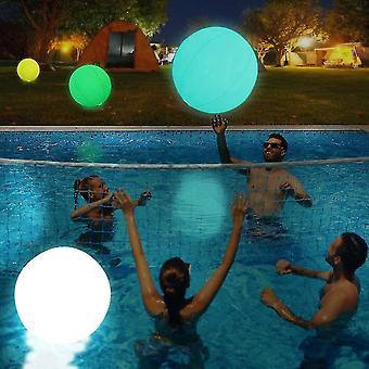 Light Up -allas kelluu Led Beach Ball Lentopallo Uima-allas Lelu Puhallettava Kelluva Pallo
