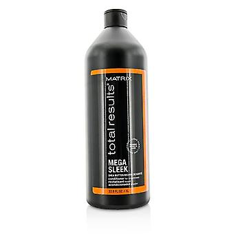 Matrix samlede resultater Mega glat Shea smør Conditioner (For glathed) 1000 ml / 33.8 oz