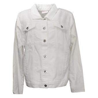 Belle af Kim Gravel Women's Jacket m/ Strik Ryg og ærmer Hvid A377251