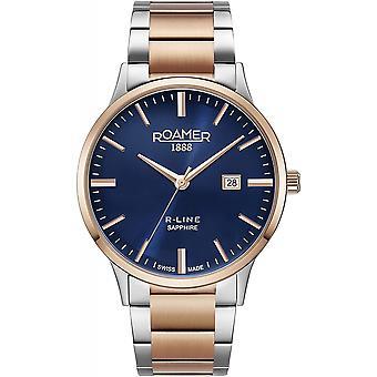 Roamer 718833 47 45 70 Men's R-Line Two Tone Steel Bracelet Wristwatch