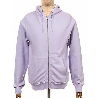 Colorful Standard Organic Cotton Hooded Jacket - Soft Lavender