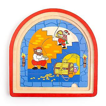 Wooden pegged puzzles pirate arched puzzle
