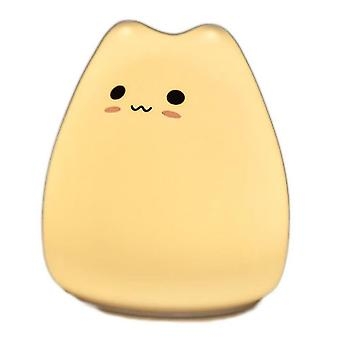 Night lights ambient lighting little cute cat silicone lamp