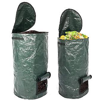 Organische Kompostbeutel Garten Kompostbehälter Abfallvergärungstank Wiederverwendbar (35 * 60cm 15 Gallonen)