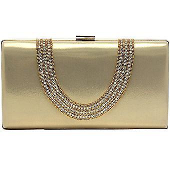Pu Crystal Diamond Sequin Evening Bag