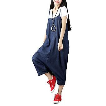 Woman Loose Overalls Oversize Jeans Casual Demin Pants