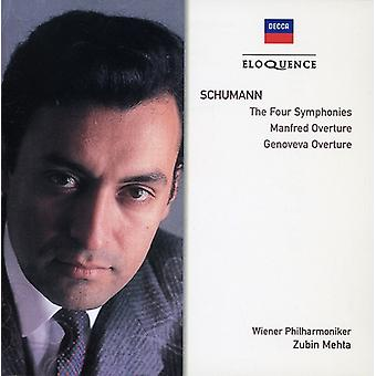 Zubin Mehta - Schumann: The Four Symphonies; Manfred Overture; Genoveva Overture [CD] USA import