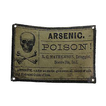 Arsen vergiften Vintage-Stil knisterte Apotheker Label Wandbehang