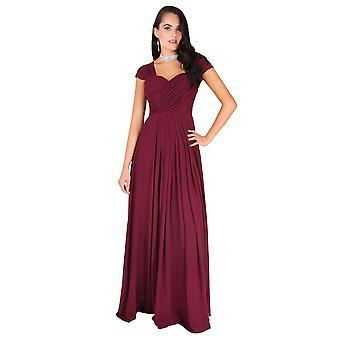 KRISP Frauen Diamante ausgestattet lange Fischschwanz Party Brautjungfer Hochzeit Maxi Prom Kleid