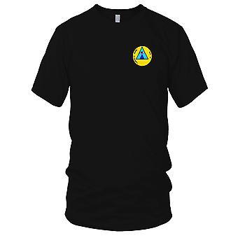 Yhdysvaltain laivaston USS Alert AS-4 kirjailtu Patch - Miesten T-paita