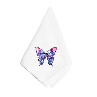 Carolines aarteita 8859NAP vaaleanpunainen ja violetti Butterfly lautasliina