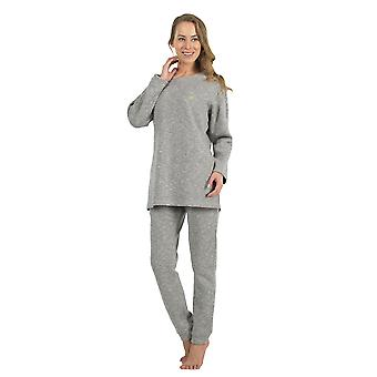 BlackSpade 6132-179 Women's Grey Pajama Sleepwear Pyjama Set