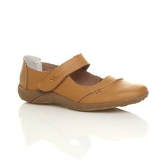 Ajvani womens full läder comfort krok & slinga gång casual sandaler skor