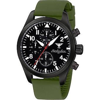 KHS Herrenuhr Airleader black steel chronograph KHS. AIRBSC. SO