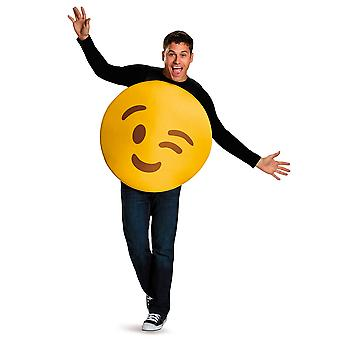 Wink Emoticons Winking Face Emoji Unisex Womens Mens Costume