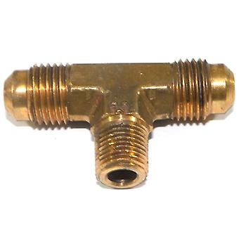 Big A Service Line 3-145520 Brass Pipe, Flare Tee Fitting 5/16 X 5/16 X 1/8