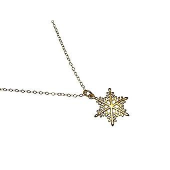 Snowflake necklace 925 silver plated gold plated pendant Flake