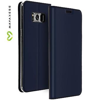 Mayaxess Skin Series Flip case, standing case for Samsung Galaxy S8 Plus - Blue