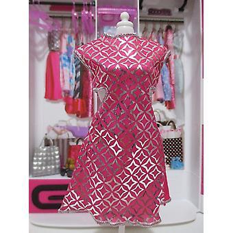 Barbie mode søde skåret ud kjole lyserød