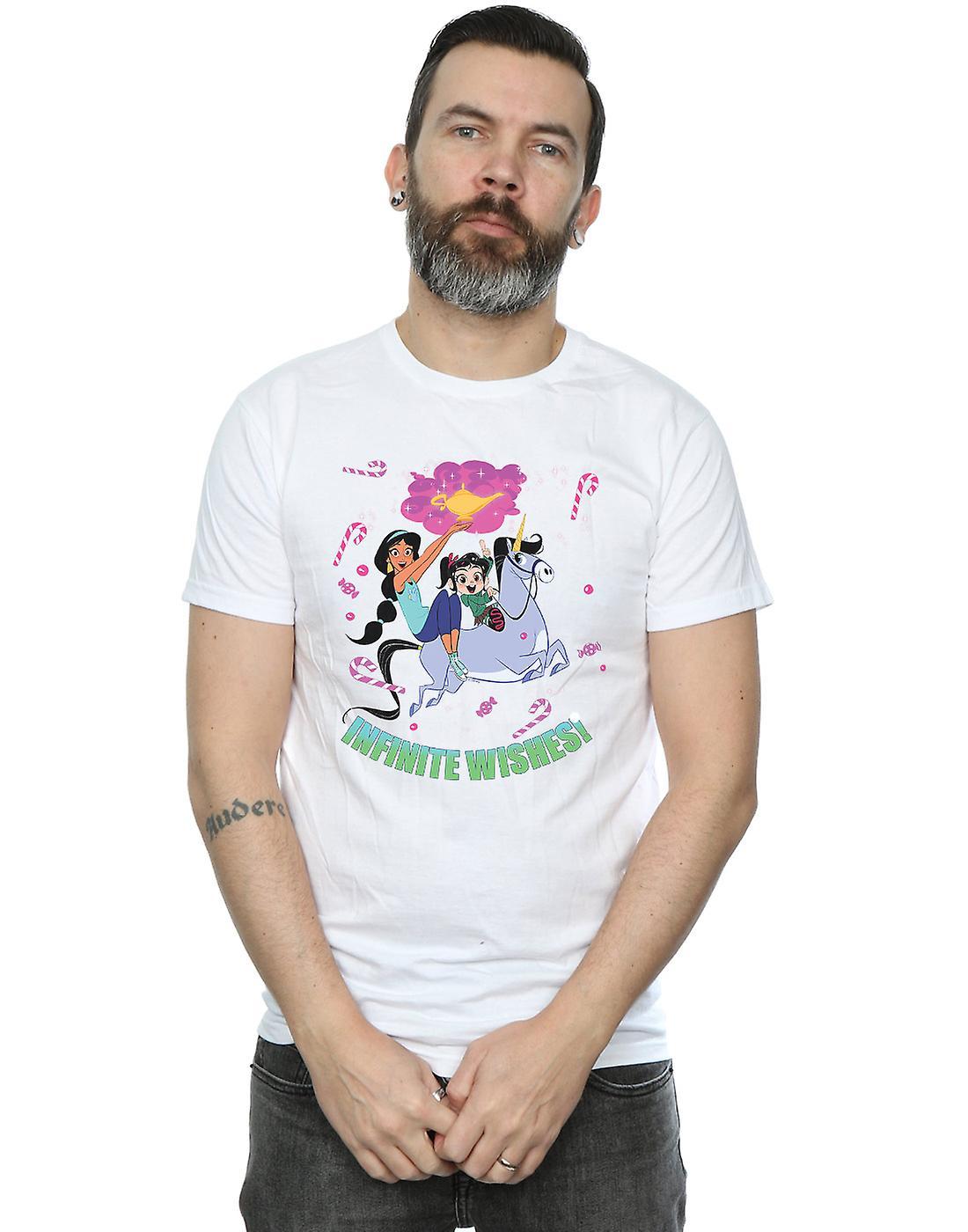 Disney Men's Wreck It Ralph Jasmine And Vanellope T-Shirt
