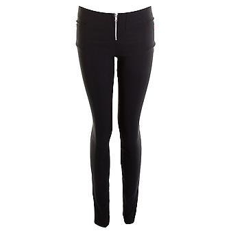 Mesdames Black Stretch Mlle École Femmes zip frontal Pantalon Filles