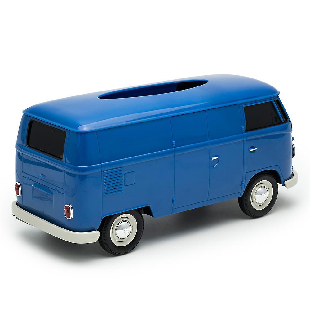 Official VW Camper Van Plastic Tissue Box Holder - Blue
