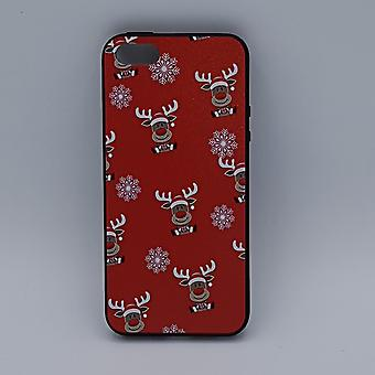 iPhone 5, 5s, SE pouch-Christmas-Rudolf rednose-Red