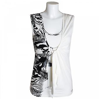 Tuzzi Sleeveless Top With Zebra Prt