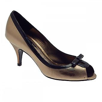 Magrit High Heel Peep Toe Court With Bow