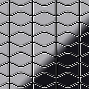 Metal mozaic din aliaj inox Kismet-Karma-S-S-M