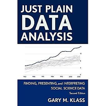 Análisis de datos simples: Encontrar, presentar e interpretación de datos de ciencias sociales