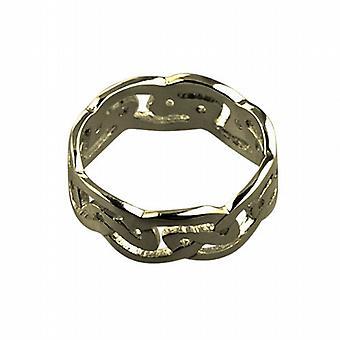 Grootte van de Keltische trouwring 9ct goud 8mm Z + 1
